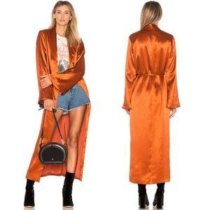 Tularosa Revolve Lani Satin Robe Kimono Jacket